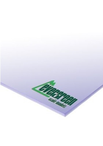 Evergreen Styrene White Sheet 0.25mm (4pk)