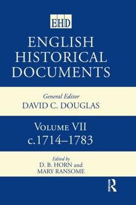 English Historical Documents: v. 7