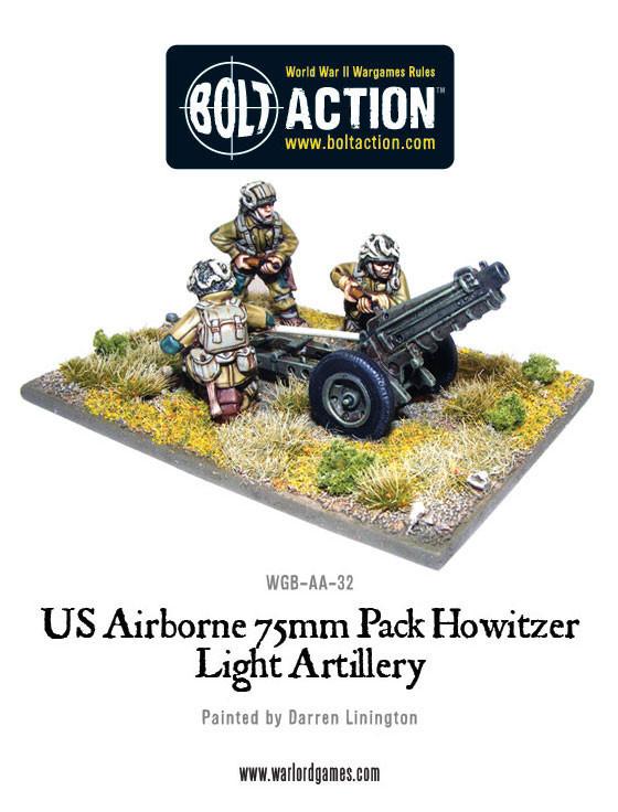 US Airborne - 75mm Howitzer & Crew
