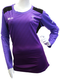 Silver Ferns Ladies Long Sleeve Training Tee - Grape (Size 6)