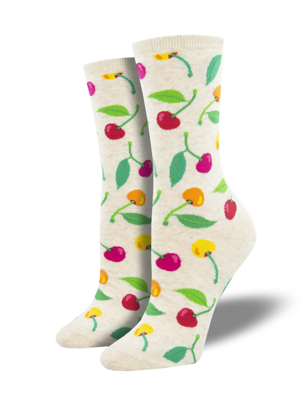 Socksmith: Cherries - Ivory Heather