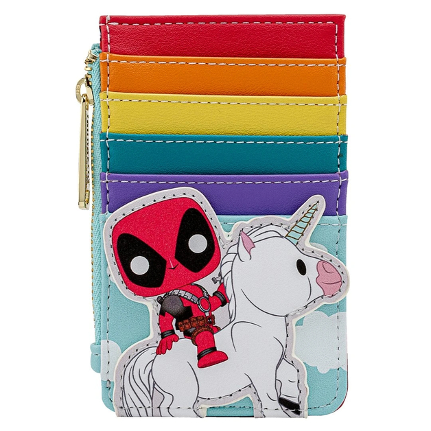 Loungefly: Deadpool - 30th Anniversary Unicorn Rainbow Cardholder