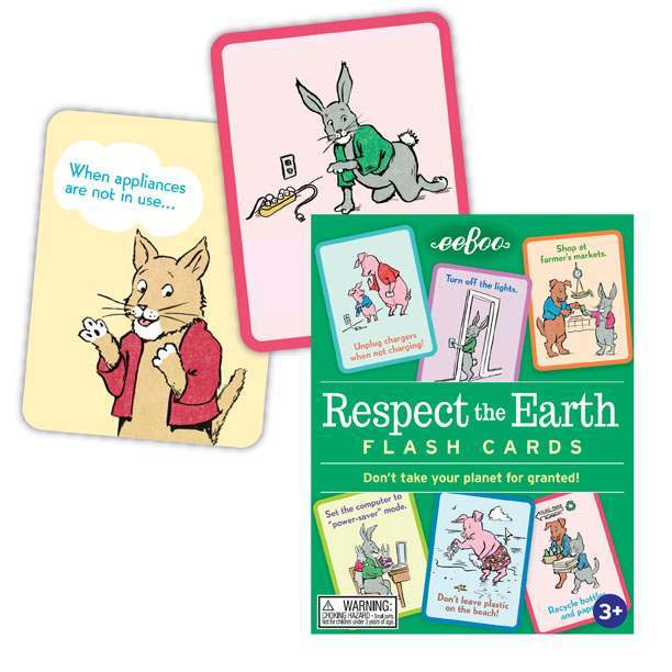 eeBoo: Respect The Earth - Flash Cards