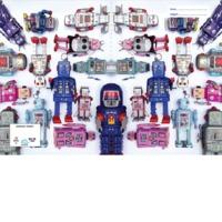 Spencil: A4 Book Cover - Tin Robots