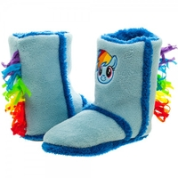 My Little Pony Rainbow Dash Boot Slippers (Medium)