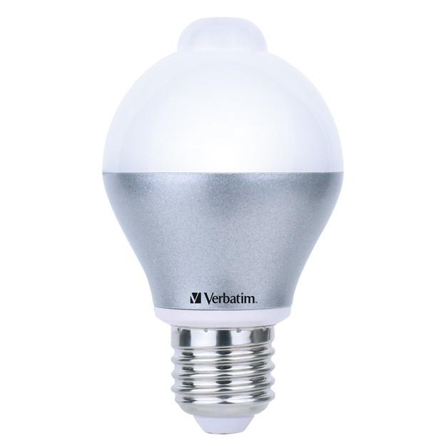 Verbatim LED Classic A 6W 480lm 3000K Warm White E27 - Built-In Sensor