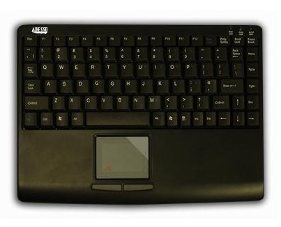 Adesso: SlimTouch Mini Keyboard USB with TouchPad Black