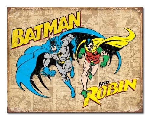 DC Comics: Batman & Robin - Retro Tin Sign