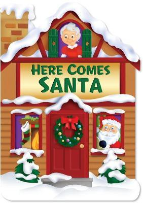 Christmas House Board Book Here Comes Santa image