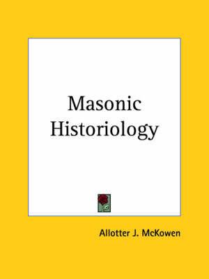 Masonic Historiology (1944) image