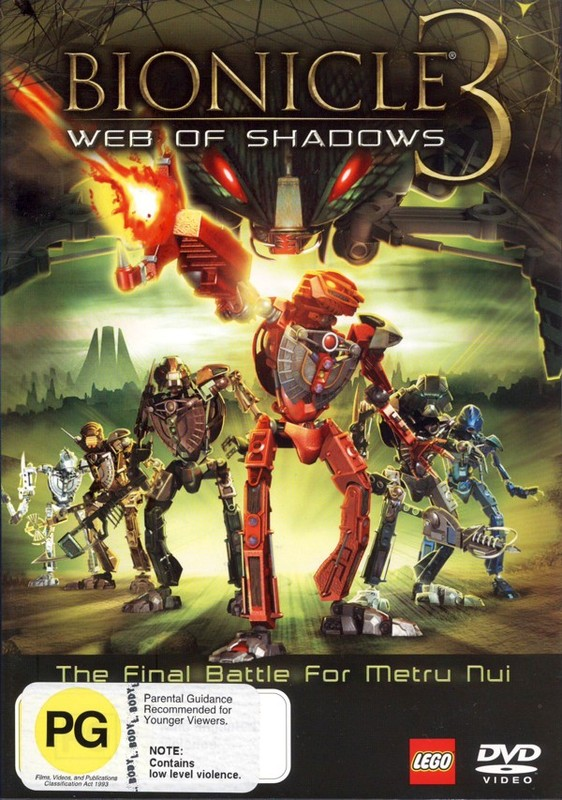 Bionicle 3: Web Of Shadows on DVD