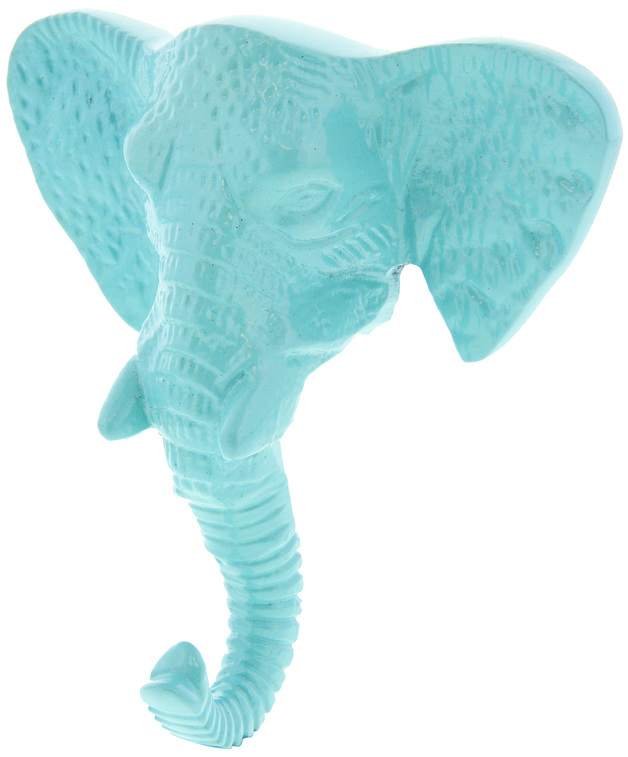Pretty Pastels: Elephant Head Wall Hook - Blue