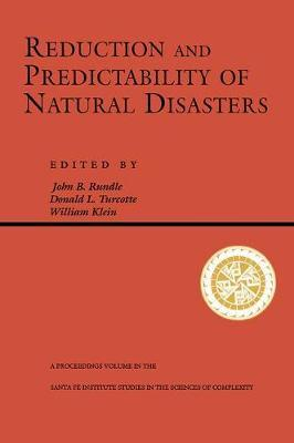 Reduction And Predictability Of Natural Disasters by John Rundle image