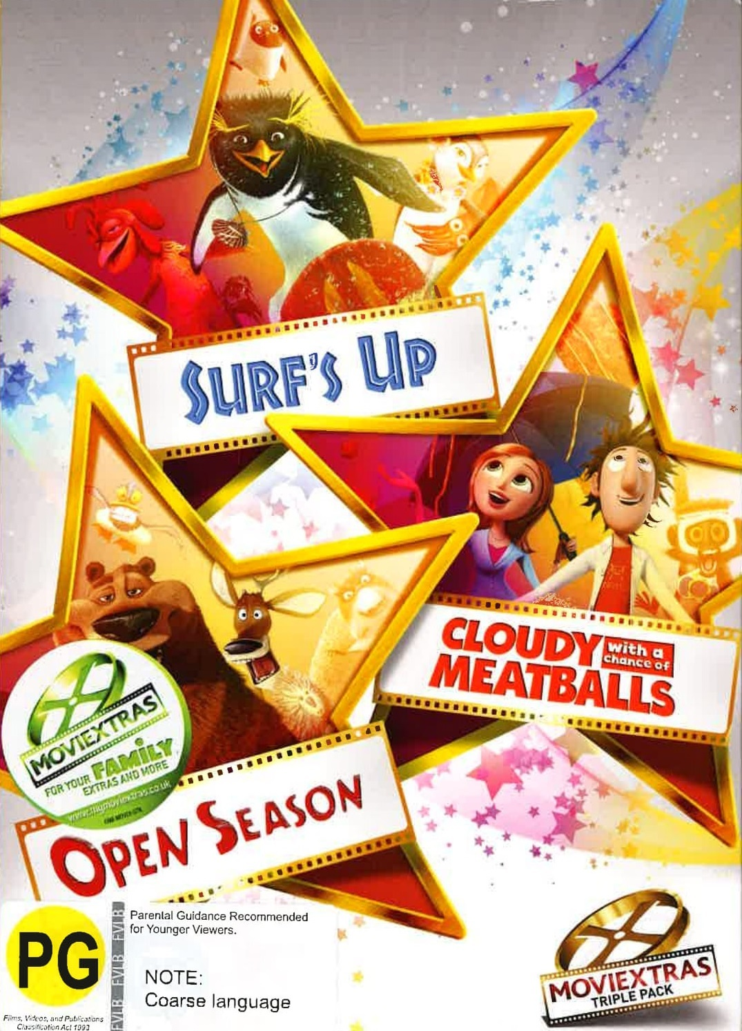 Cloudy With A Chance Of Meatballs/Open Season/Surf's Up Box Set on DVD image