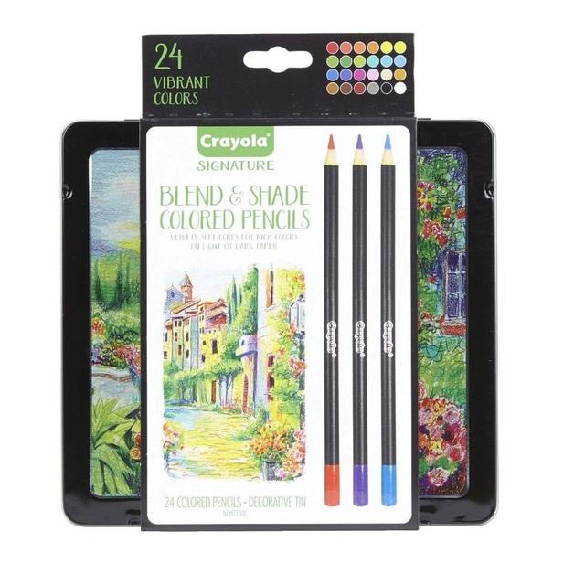 Crayola: Signature - Blend & Shade Coloured Pencil Set (24pc)