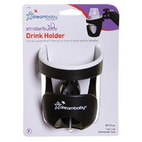 Strollerbuddy® Drink Holder - Black/Cream Trim