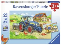 Ravensburger : Hard at Work Puzzle 2x12pc image