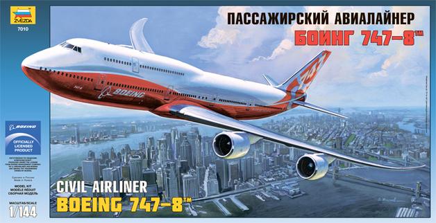 Zvezda: 1/144 Boeing 747-8 Model Kit