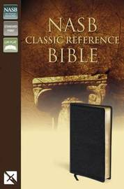 NASB, Classic Reference Bible, Bonded Leather, Black, Red Letter Edition by Zondervan