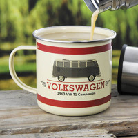 VW Campervan Enamel Mug