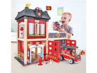 Hape: Fire Station Wooden Playset
