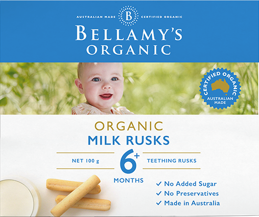 Bellamy's Organic: Milk Rusks (100gm)