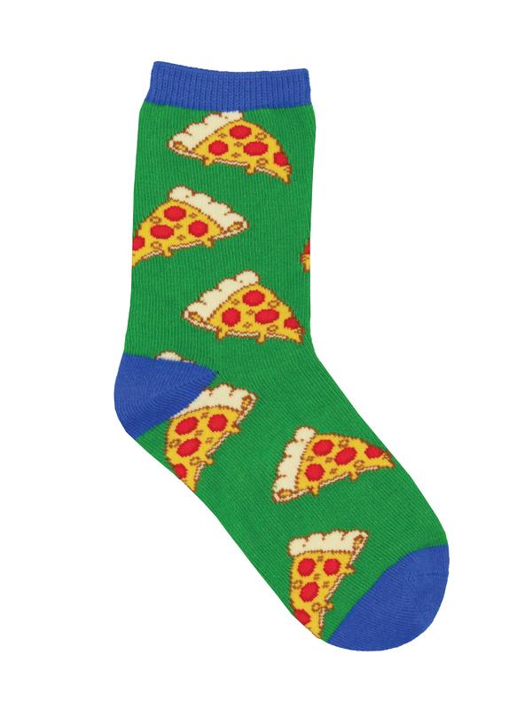 Socksmith: Pizza (4-7 yrs) Green
