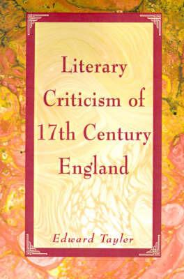 Literary Criticism of Seventeenth-Century England image