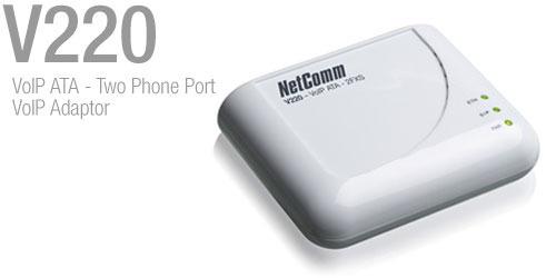 Netcomm V210P VoIP ATA - Single Phone Port With PSTN Pass-through