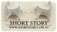 Short Story: Cat Earrings - Silver