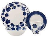 Maxwell & Williams Symphony Rim Dinner Set 16pc Blue Gift Boxed