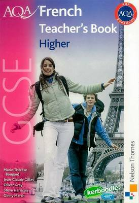 AQA GCSE French Higher Teacher Book by Oliver Gray image