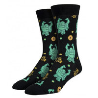 Mens Happy Buddha Crew Socks