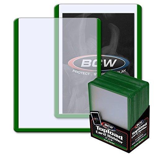 BCW: 3x4 Toploader Card Holder - Green Border