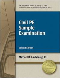 Civil PE Sample Examination by Michael R Lindeburg image