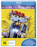 The Lego Movie 3D with Activity Book on Blu-ray, 3D Blu-ray, UV