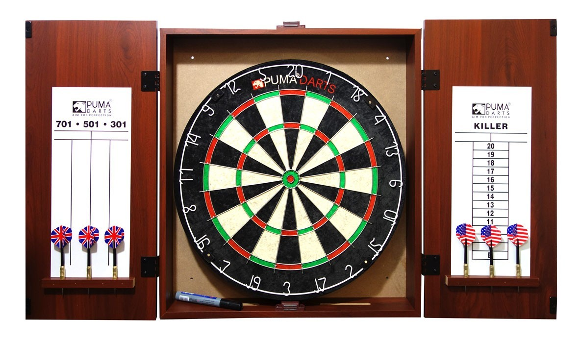 Buy Puma Bristle Dartboard and Cabinet Set at Mighty Ape NZ