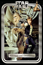 Star Wars Classic Han And Chewie Retro Maxi Poster (810)