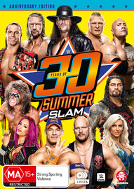 Wwe: 30 Years Of Summerslam on DVD