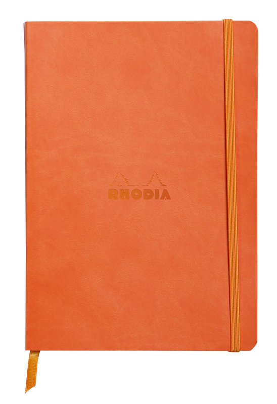 Rhodiarama A5 Softcover Notebook Lined - Tangerine