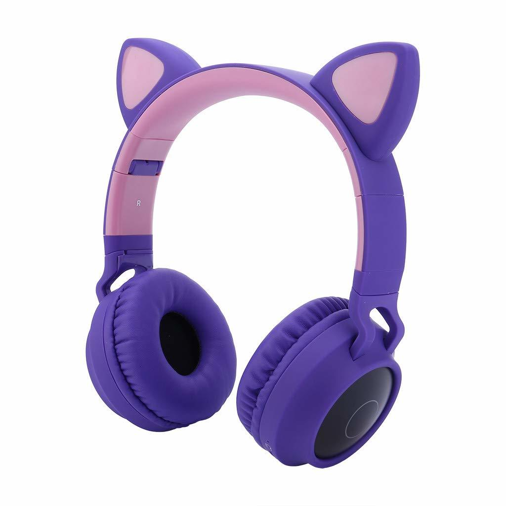 Cat Ears: Bluetooth Wireless Headset - Purple image