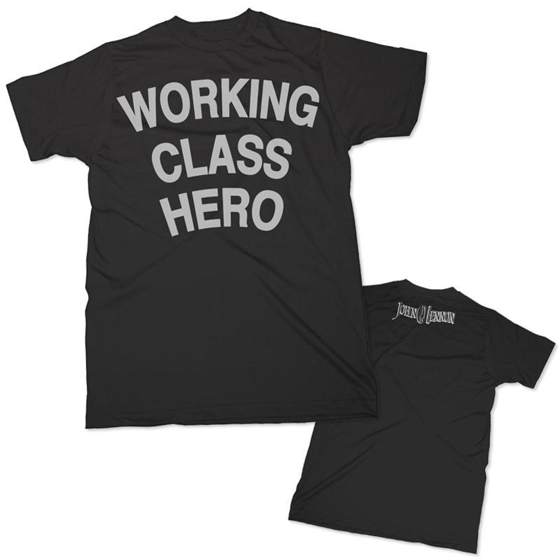 John Lennon: Working Class Hero - Black T-shirt (Small) image
