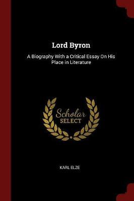 Lord Byron by Karl Elze image