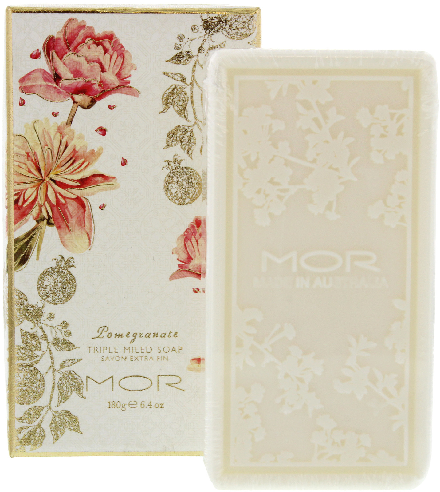 MOR Pomegranate Collection Triple Milled Soap (180g) image