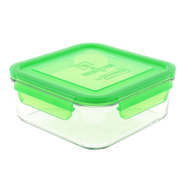 Glass Lunch Cube - Pea (480ml)