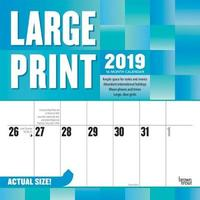 Large Print 2019 Square Wall Calendar by Inc Browntrout Publishers