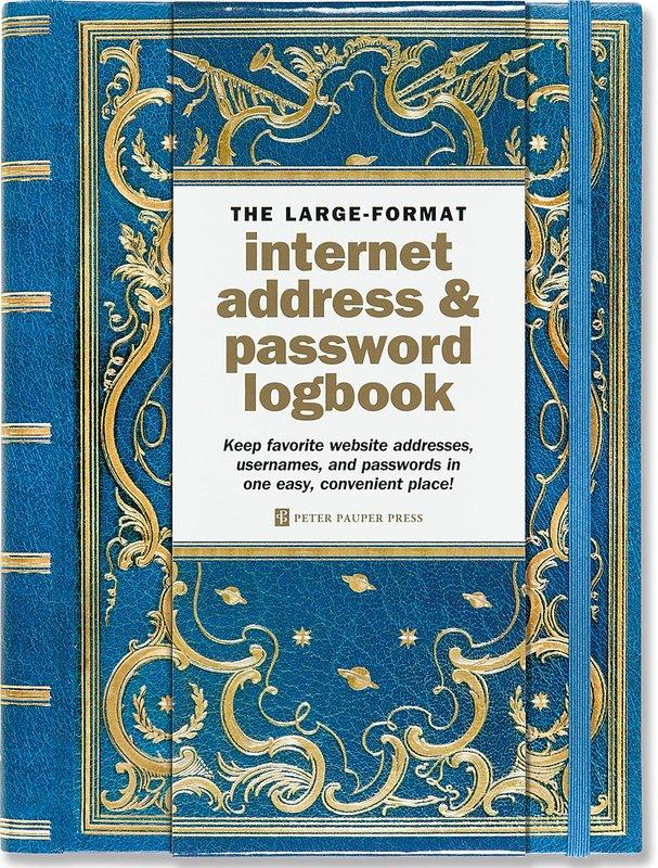 Celestial Large-Format Internet Address & Password Logbook