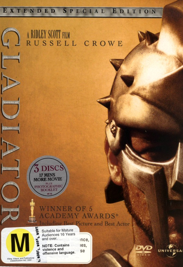 Gladiator (2000) - Extended Special Edition (3 Disc Set) on DVD image
