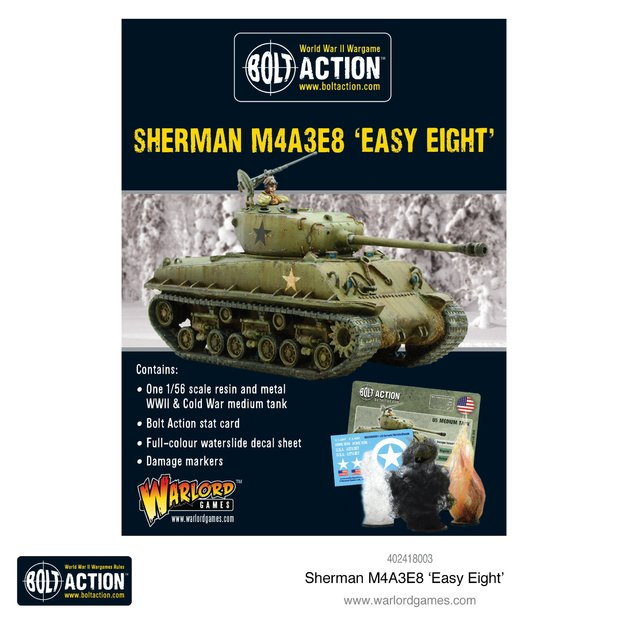 Bolt Action: Sherman M4A3E8 'Easy Eight'