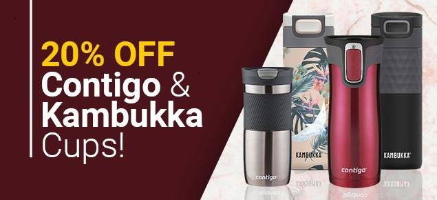 20% off Contigo & Kambukka Cups